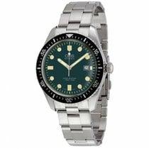 Oris Divers Sixty Five Steel Green No numerals