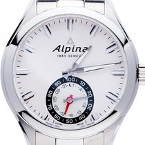 Alpina 44mm Quarz neu Horological Smartwatch Silber