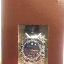Patek Philippe World Time Chronograph nuevo 2017 Automático Cronógrafo Reloj con estuche y documentos originales 5930G-001