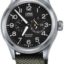 Oris Big Crown ProPilot Worldtimer Acier Noir