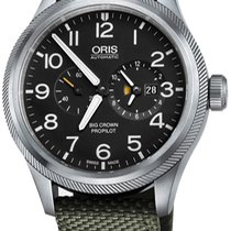 Oris Steel Automatic Black new Big Crown ProPilot Worldtimer