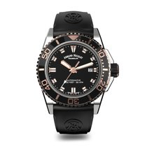 Armand Nicolet JS9 Diver 2Tone Black Ceramic 44mm Steel...