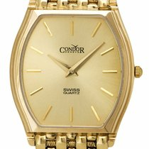 Condor Yellow gold 31mm Quartz GS21003 new