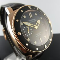 Panerai Rose gold Automatic Black No numerals 42mm pre-owned Luminor Submersible 1950 3 Days Automatic