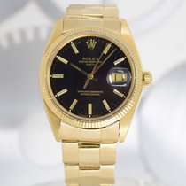 Rolex Oyster Perpetual Date Or jaune 34mm Noir Sans chiffres France, Cannes