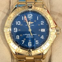 Breitling Yellow gold Automatic Blue Arabic numerals pre-owned Superocean