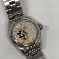 Rolex Oyster Perpetual Steel 25mm Silver No numerals