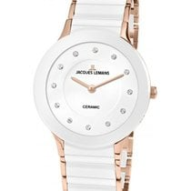 Jacques Lemans Classic Dublin Ladies Watch 32mm 2-tone Ceramic...