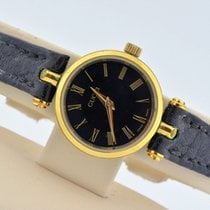 Gucci Gold Tone Black Dial Swiss Quartz Watch