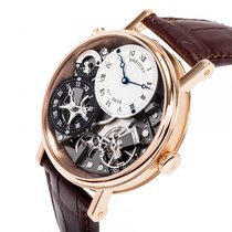 ブレゲ (Breguet) 7067BR/G1/9W6 Tradition GMT Skeletal Dial Rose...