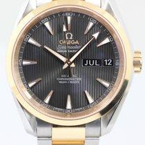 Omega Seamaster Aqua Terra Acero y oro 38,5mm Gris Sin cifras