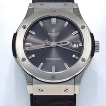 Hublot Classic Fusion Racing Grey pre-owned 45mm Grey Date Leather