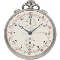 Lemania Chronograph 47mm Silber