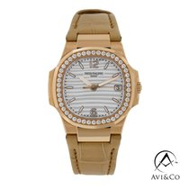 Patek Philippe Nautilus Rose gold 32mm White Arabic numerals