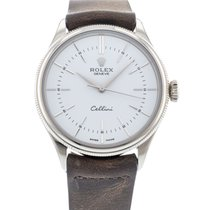 Rolex Cellini Time pre-owned 39mm White Leather
