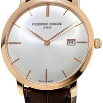 Frederique Constant Slimline Automatic Rose gold 40mm Silver United States of America, New York, Monsey