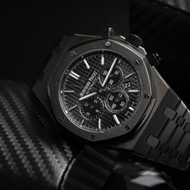 Audemars Piguet Royal Oak Chronograph Steel 41mm Black No numerals