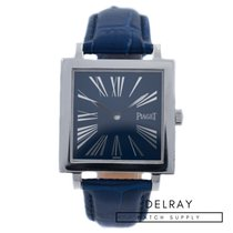 Piaget Altiplano pre-owned 30mm Blue Crocodile skin