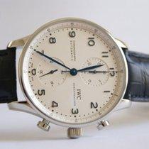 IWC Portuguese Chronograph nouveau 2020 Remontage automatique Chronographe Montre avec coffret d'origine et papiers d'origine 371446
