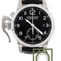 Graham Chronofighter 1695 Chronograph 42mm Black Strap NEW