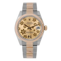 Rolex Datejust 31mm Steel & Everose Gold Pink Floral