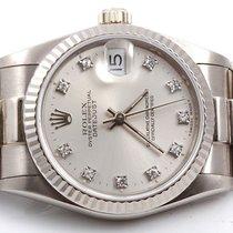 Rolex Midsize 18K White Gold President - Factory Silver...