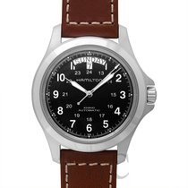 ハミルトン (Hamilton) Khaki Field King Auto Black Steel/Leather...
