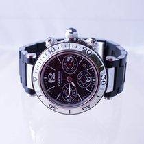 Cartier Pasha Seatimer Stahl 42mm Schwarz Arabisch Deutschland, Essen