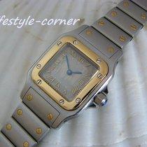 Cartier Santos Galbée Damenuhr in Stahl / Gold (Box & Papiere)