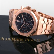 Audemars Piguet 2018 Rose Gold Royal Oak Chronograph Black...
