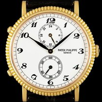 Patek Philippe Travel Time Yellow gold 34mm White Arabic numerals