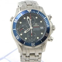 Omega Seamaster Diver 300 M pre-owned 41.5mm Blue Date Steel