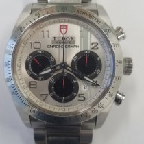 Tudor Fastrider Chrono pre-owned 42mm Silver Chronograph Date Steel