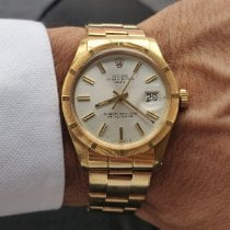 Rolex Oyster Perpetual Date Yellow gold 34mm White No numerals