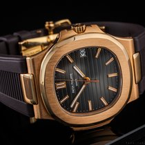 Patek Philippe Nautilus Rose gold 40mm Brown