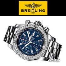 Breitling Silver Automatic Blue 48.4mm pre-owned Super Avenger
