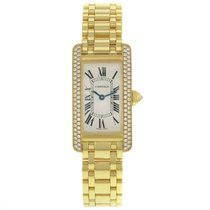 Cartier Tank WB7043JQ 18K Yellow Gold Quartz Ladies Watch (14064)