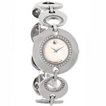 Movado Buleto Diamond Ladies MOP Diamond Swiss Quartz Watch...