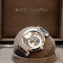 Harry Winston Pemier Excenter 18k White Gold Grey Dial...