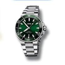 Oris Aquis Date Steel Green