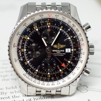 Breitling Navitimer World Steel 46mm Black No numerals United States of America, Virginia, Sterling