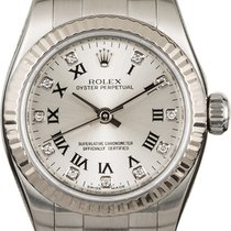Rolex Oyster Perpetual 26 Ατσάλι 26mm Ασημί Ρωμαϊκοί