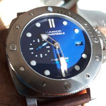 Panerai Steel Automatic Blue No numerals 47mm new Luminor Submersible 1950 3 Days Automatic