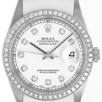 Rolex Datejust pre-owned 36mm White Date Rubber