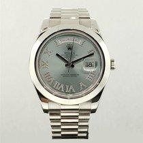 Rolex Day-Date II Platinum 41mm Blue United States of America, New York, New York