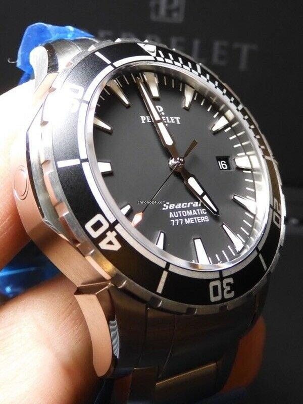 Perrelet Seacraft Three 3 Hand Dive Watch 100 Nib A1053 B 42mm Rare 3550 List