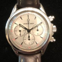 Universal Genève Compax Steel 36.5mm Silver No numerals United States of America, Massachusetts, Longmeadow