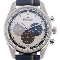 Zenith El Primero 36'000 VpH new Automatic Chronograph Watch with original box and original papers 03.2040.400/69.C802