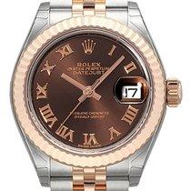 Rolex Lady-Datejust 28 279171 Choco Römisch Jubile-Band