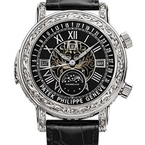 Patek Philippe Sky Moon Tourbillon White gold 44mm Black Roman numerals